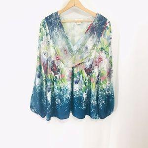 Sundance Catalog Silk Floral Blouse